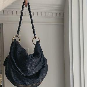 Deux Lux Navy Convertible Hobo to crossbody Bag